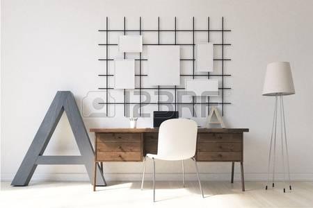 60111998-sala-de-estudio-de-luz-con-modernos-equipos-en-casa-con-estilo-banderas-en-la-pared-concepto-de-trab